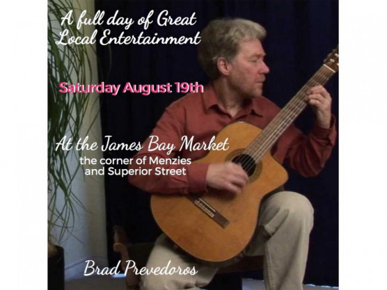 Want a great experience this Saturday? – August 19th – come on down to the James Bay Community Market!